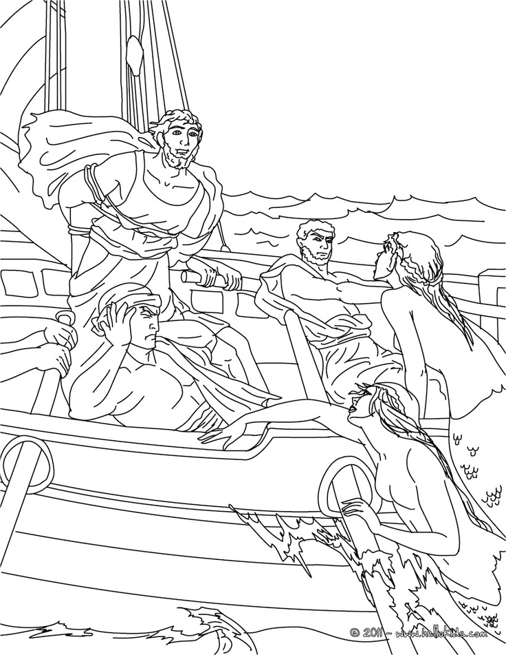 coloring pages online greek myths - photo#24