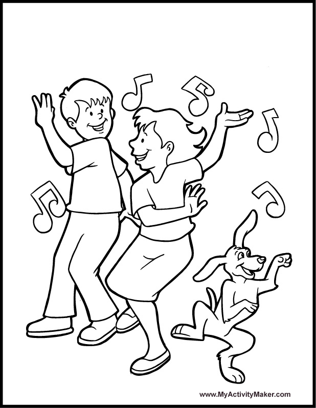 Jazz dancer coloring pages