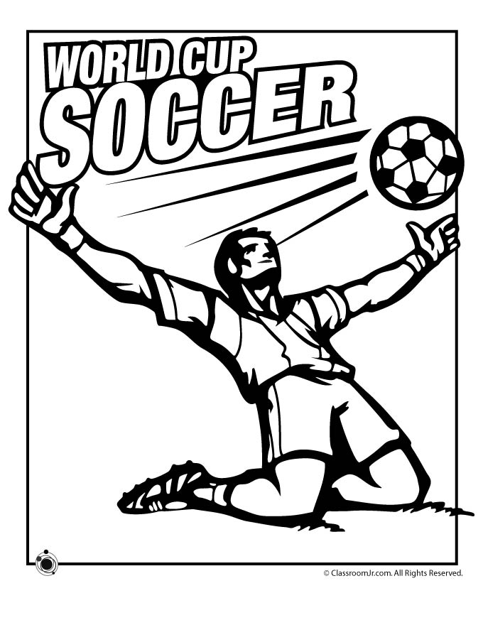 Soccer Printable Coloring Pages