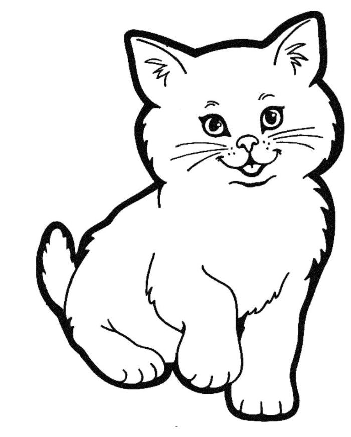 Picture of cat az coloring pages for Cat head coloring page