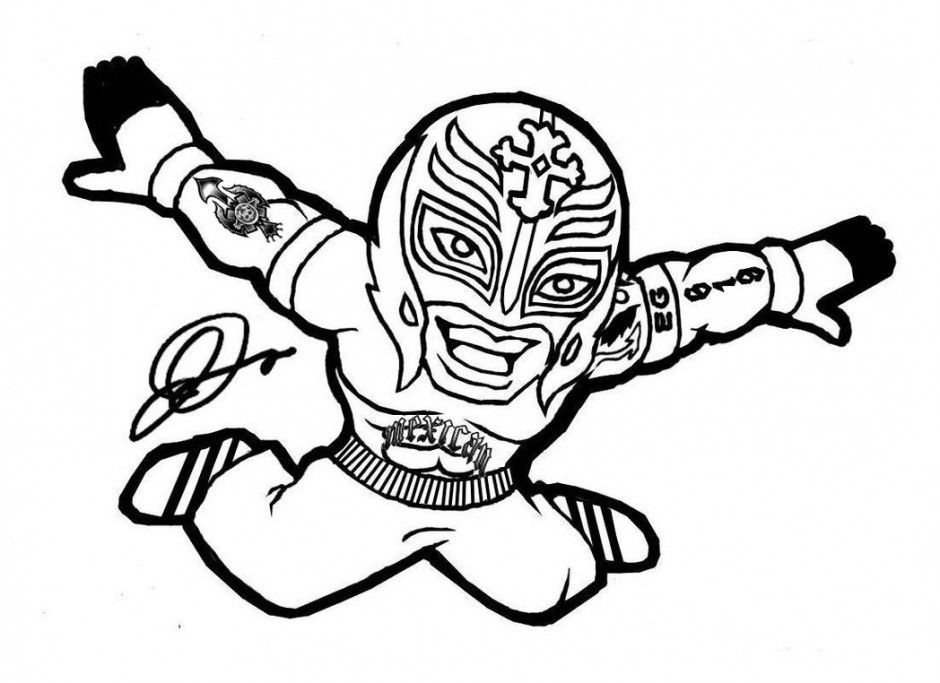 wresler coloring pages - photo#22