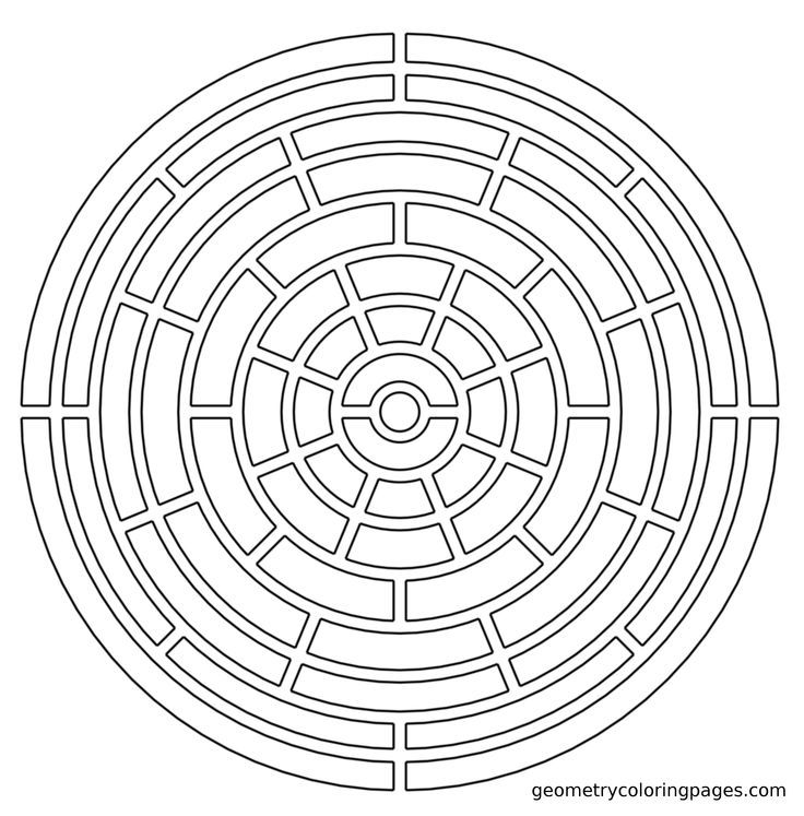 fractal coloring pages for kids - photo#17