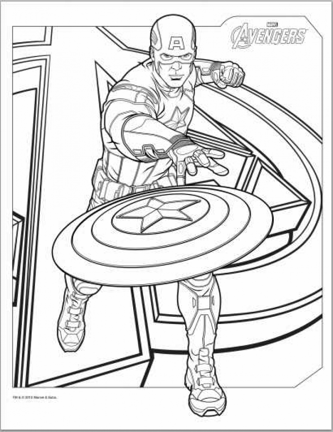 Captain America Coloring Pages For Kids Az Coloring Pages Captain America Printable Coloring Pages