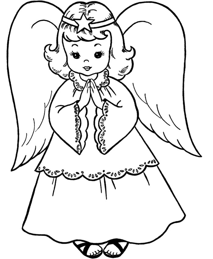 Christmas angels coloring pages az coloring pages for Coloring page angel