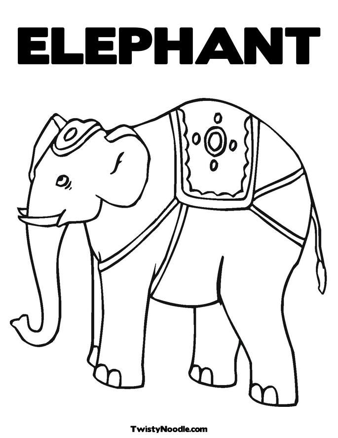 Elephant coloring book coloring home for Indian elephant coloring pages printable