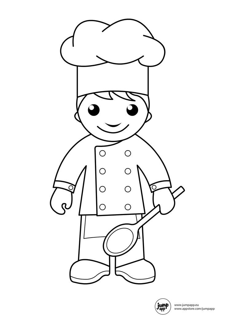 Cooking Coloring Page - Coloring Home