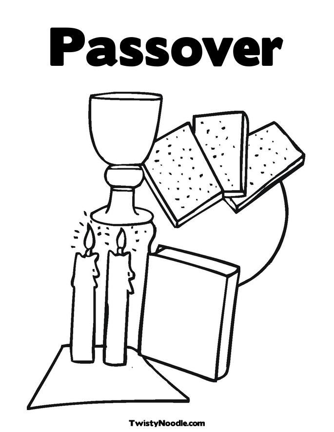 printable passover dinner coloring pages - photo#28