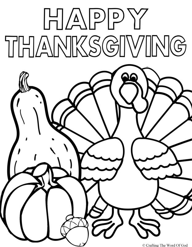 Happy Thanksgiving 2- Coloring Page « Crafting The Word Of God