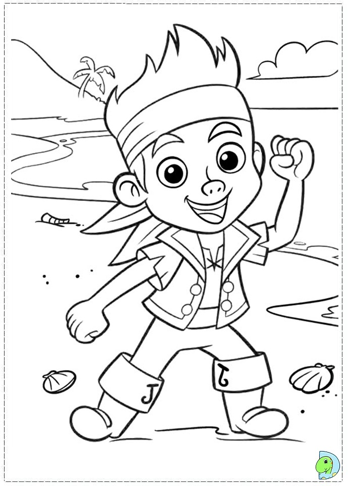 Jake and the neverland pirate pictures az coloring pages for Jake and the pirates coloring pages