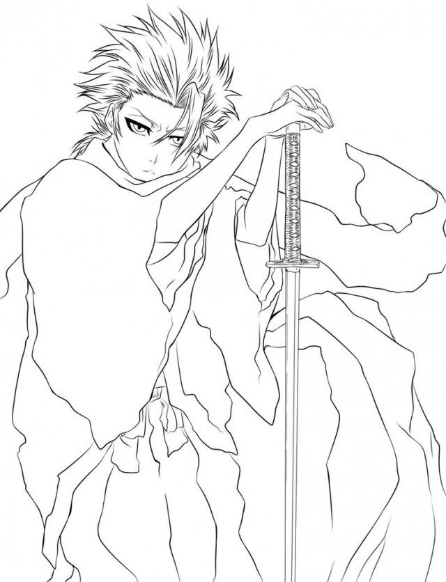 bleach coloring book pages - photo#14