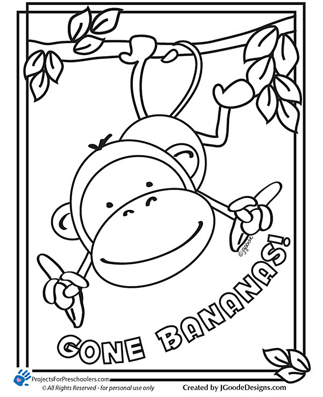 Free Printable Coloring Pages of Monkeys Free Printable Monkey Coloring