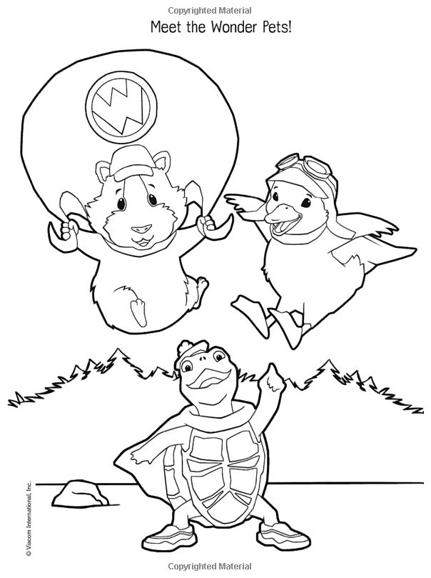 wonder pets free coloring pages - photo#4