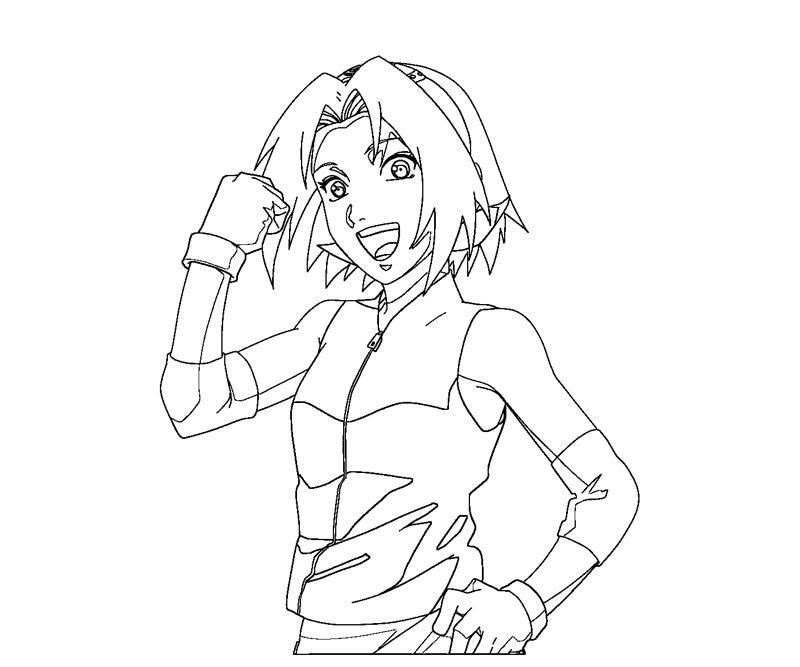 sakura haruno coloring pages - photo#23