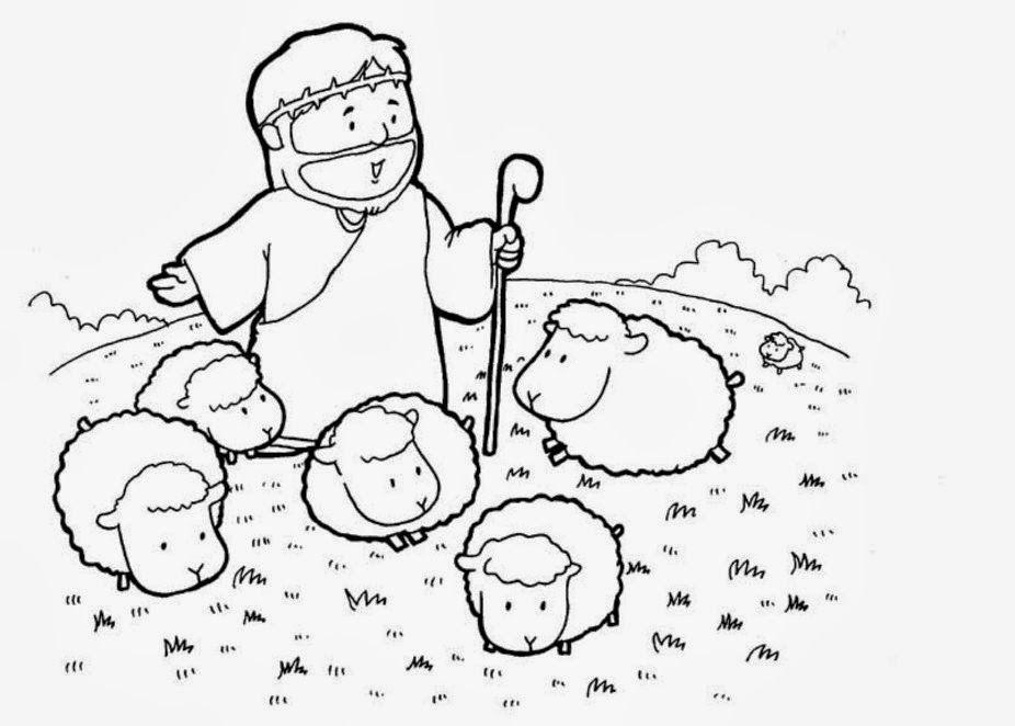 David Y Goliat Para Colorear Dibujos Cristianos Para: David El Pastor De Ovejas Para Colorear