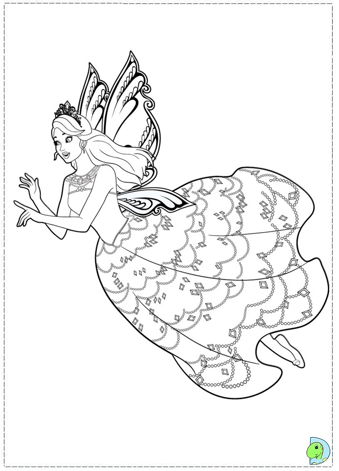 Coloring Pages Princess Fairies : Fairy princess coloring page az pages