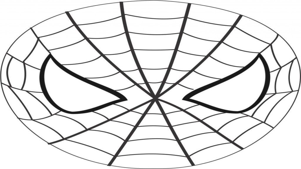 coloring pages spiderman mask clip - photo#15