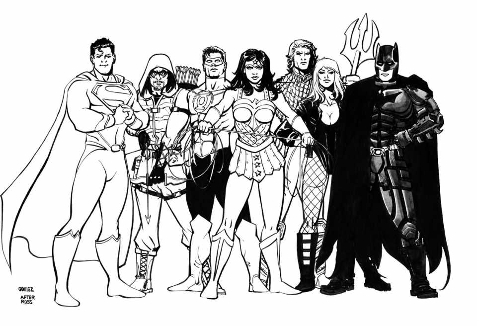 Justice League Coloring Pages Free