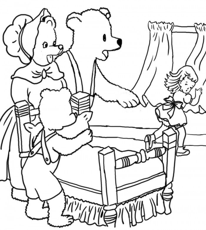 the three bears coloring pages - photo#21