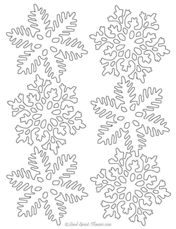 Christmas Snowflakes Coloring Pages Snowflake Coloring Patterns
