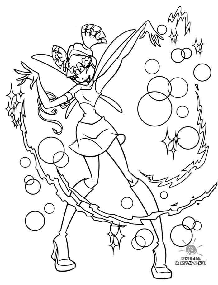 Winx Coloring Pages Pdf : Kolorowanka stella winx colouring pages page