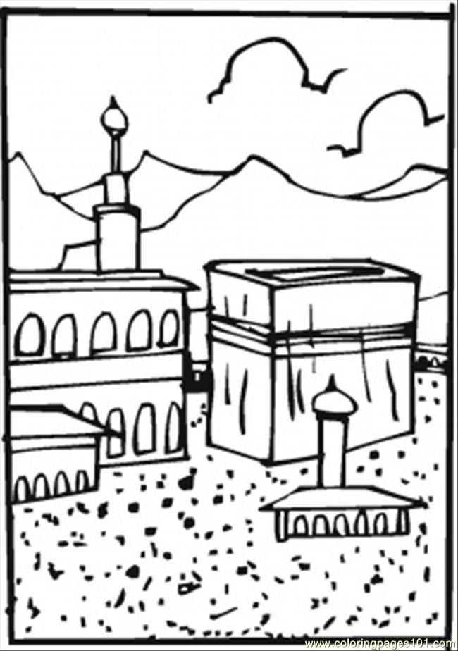 hajj ihram coloring pages - photo#8