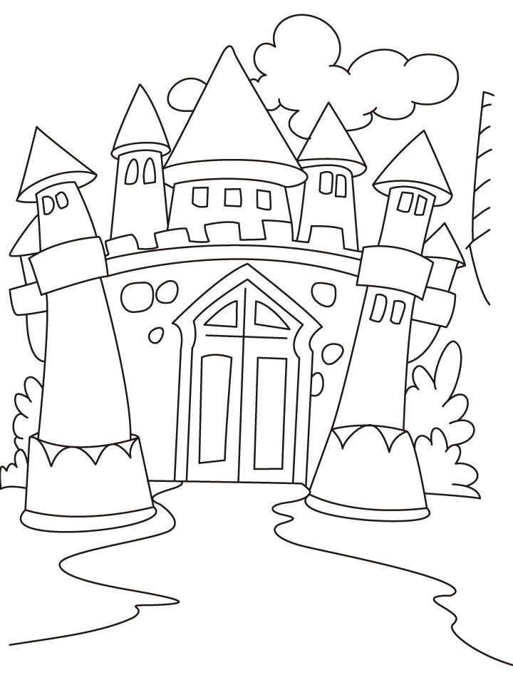 coloring pages of castles - photo#9
