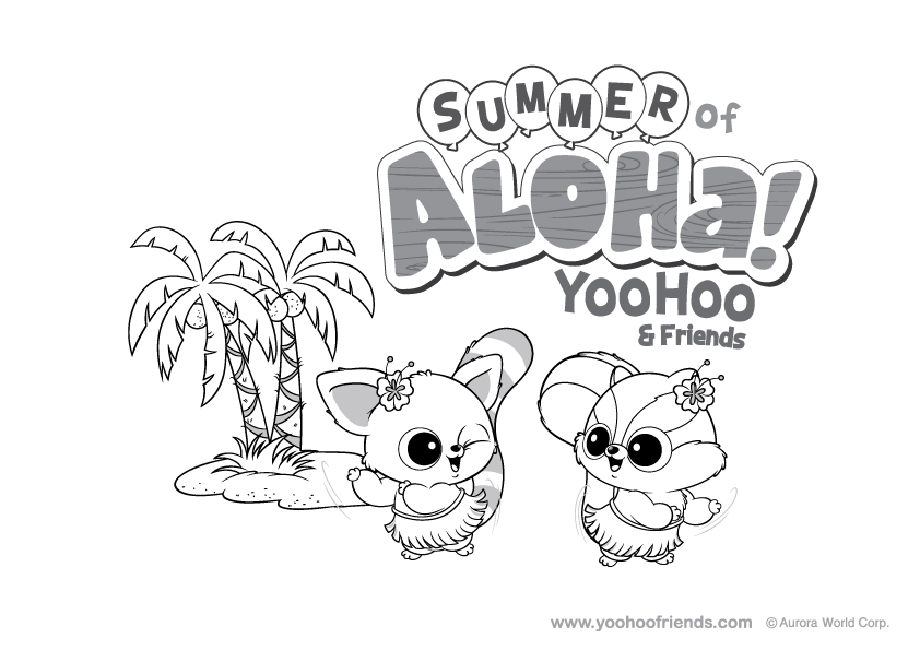 yoohoo Friends Colouring Pages (page 3)