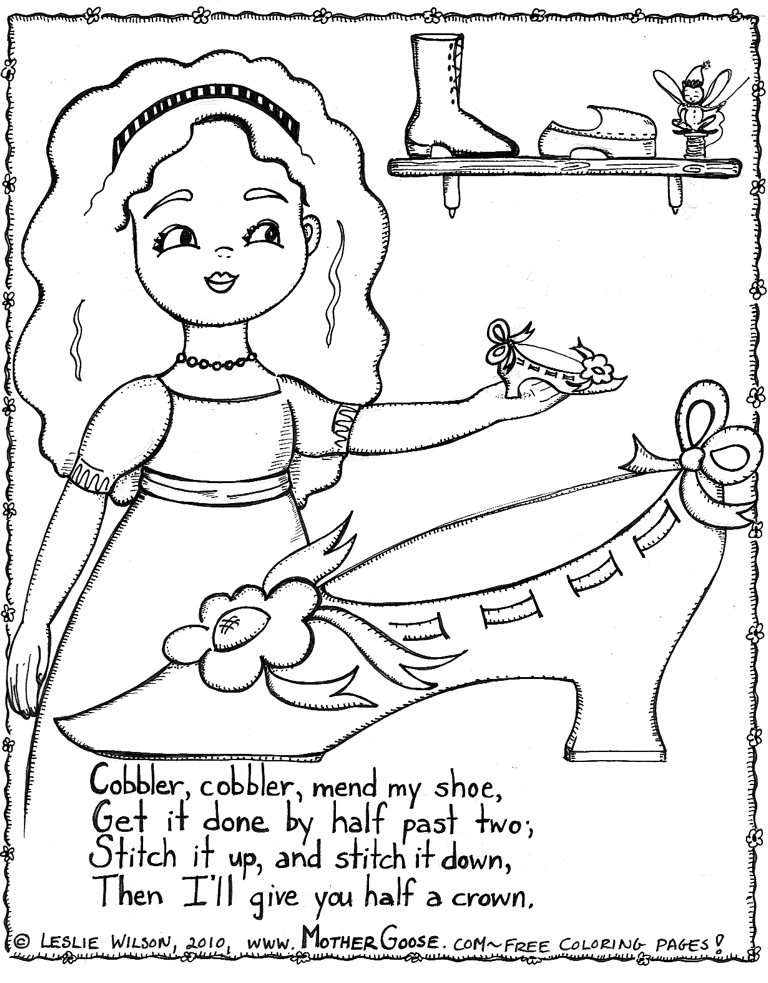 Nursery Rhymes Coloring Page Az Coloring Pages Nursery Coloring Pages