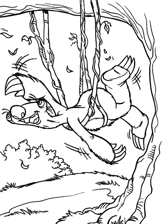 sid the sloth coloring pages az coloring pages Cute Sloth Coloring Pages  Printable Sloth Coloring Pages