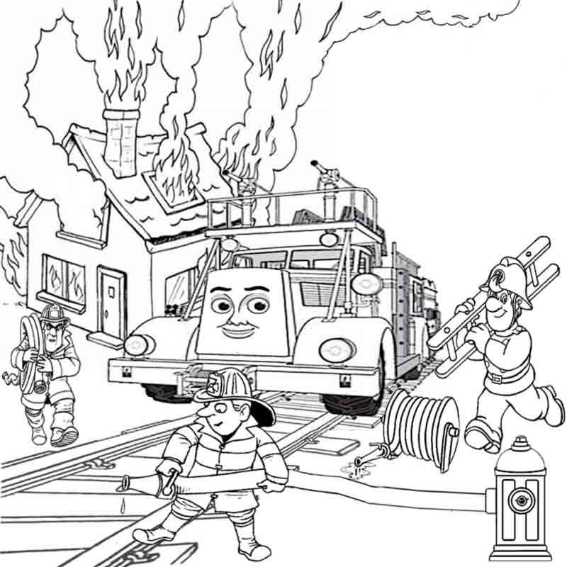 Coloring Pages Of Thomas The Train on Construction Lego Worksheets