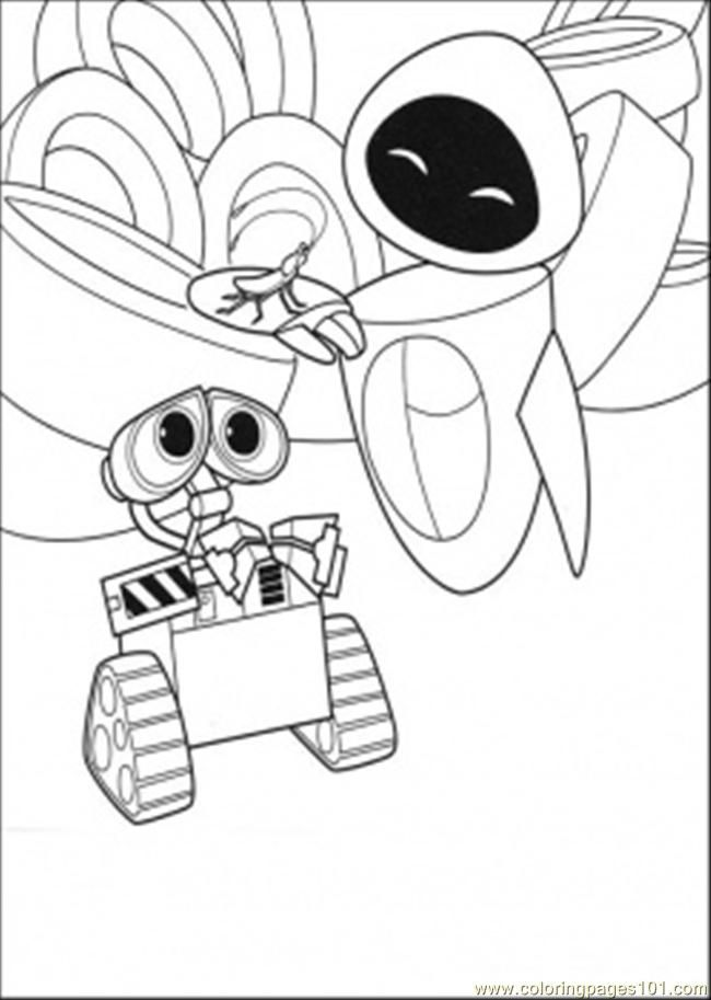 Wall E Coloring Pages Free Printable : Wall e coloring pages to print home