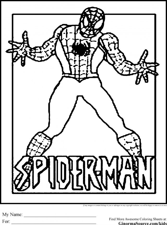 coloring pages spiderman easy drawings - photo#49