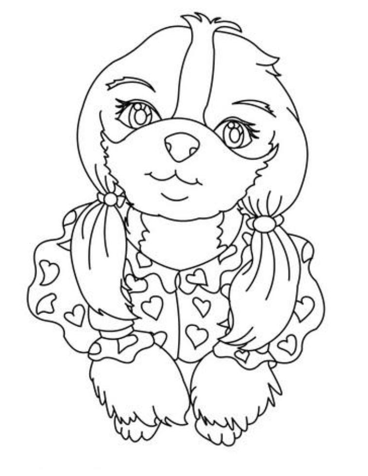 Dog house coloring pages coloring home for Coloring pages of dog houses