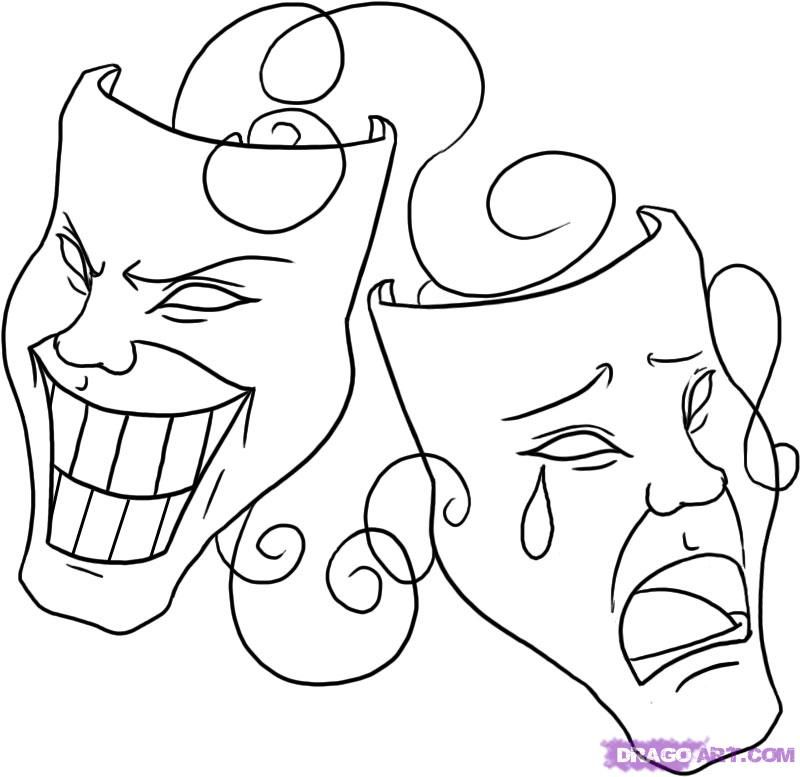 How To Draw Masks Step By Step Symbols Pop Culture Free Online