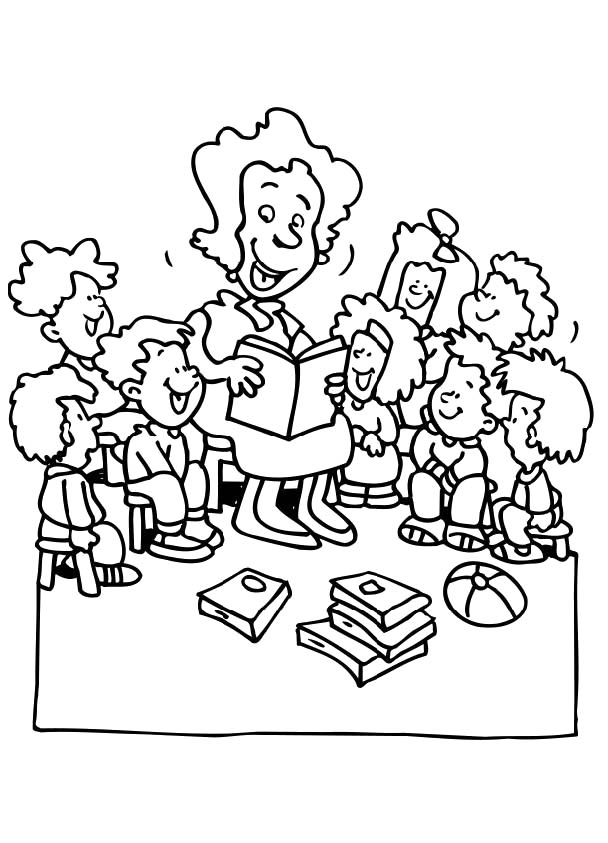 coloring pages of a teacher - photo#24