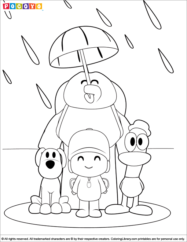 Pocoyo Coloring Pages In The Coloring Library Coloring Home