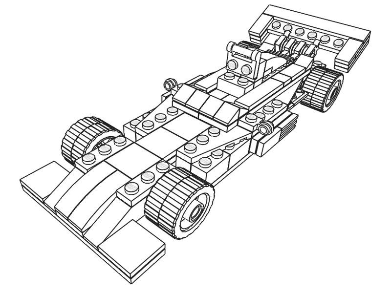 f-1 cars Colouring Pages (page 3)