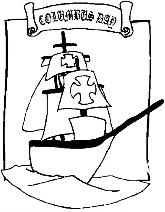 Columbus day coloring pages az coloring pages for Columbus coloring page