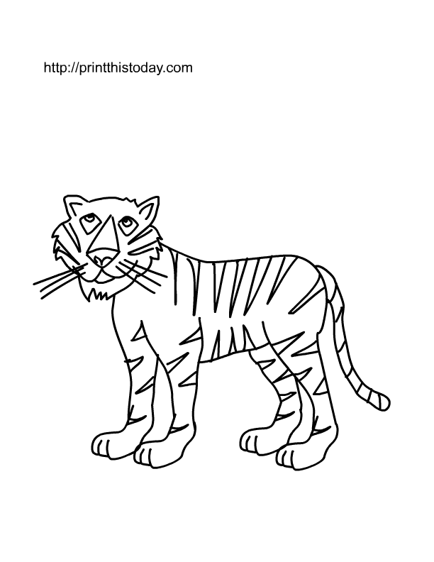 Free Printable Wild Animals Coloring Pages 2