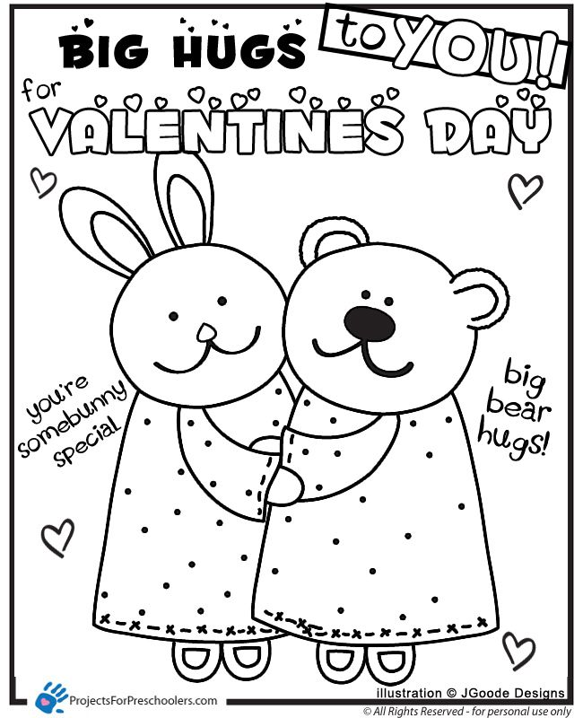 pre school valentine coloring pages - photo #14