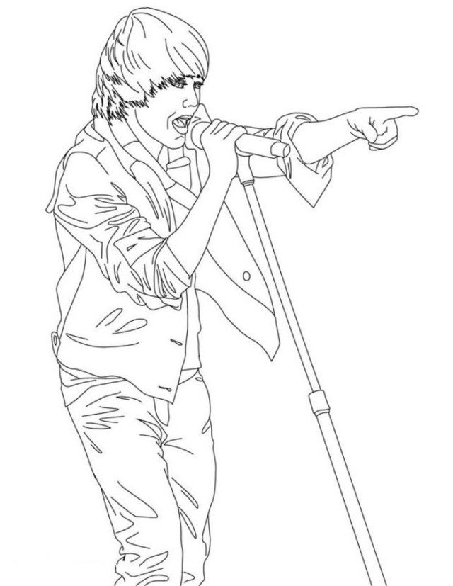 Justin Bieber Coloring Pages Coloring Home Justin Bieber Coloring Pages