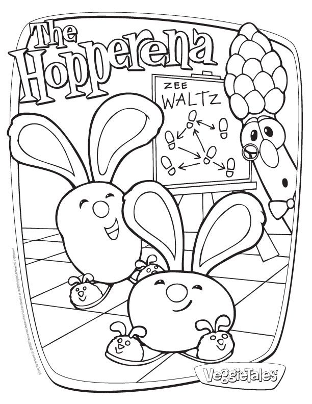 veggie tales coloring pages free - photo#30