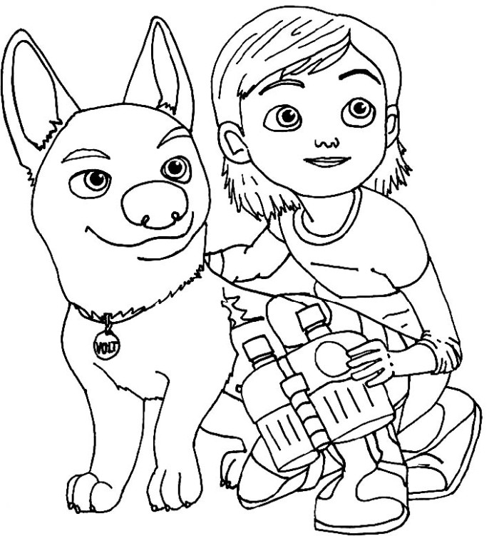 bolt coloring pages for kids - photo#8