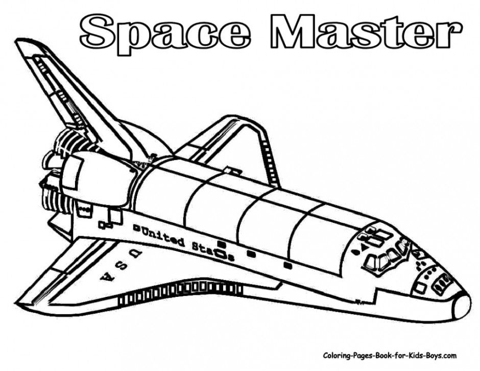 Printable Rocket Ship