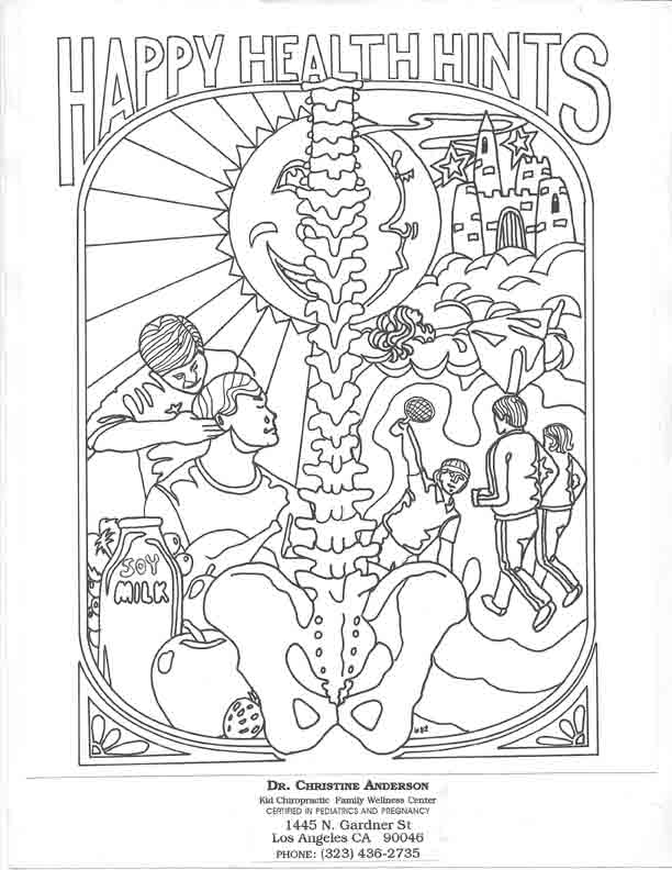 kids chriopractor coloring pages - photo#21