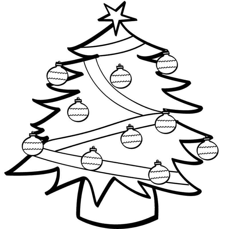 Christmas tree ornaments coloring pages az coloring pages for Christmas decoration coloring pages