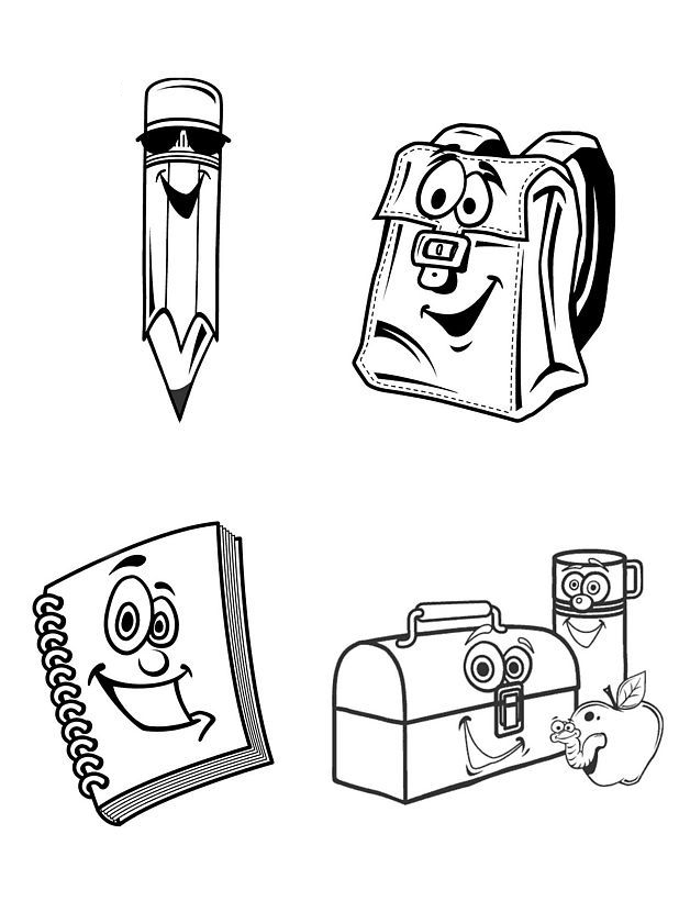 School Supplies Coloring Pages Coloring Home School Supplies Coloring Pages