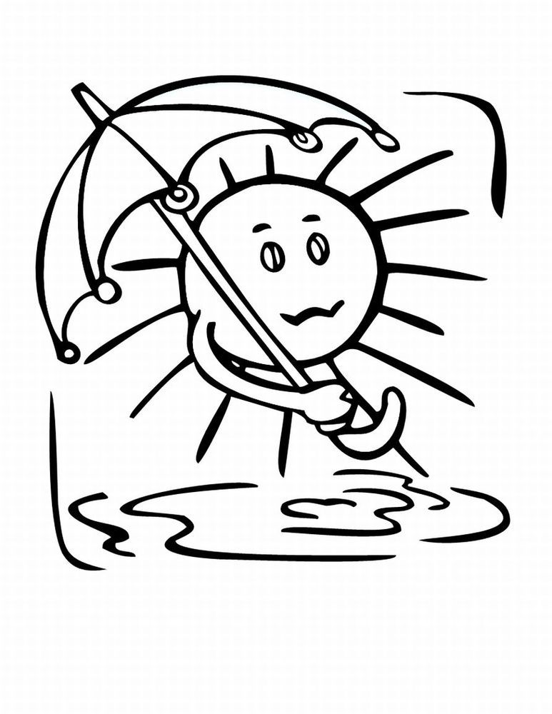 Print And Coloring Page weather For Kids | Coloring Pages