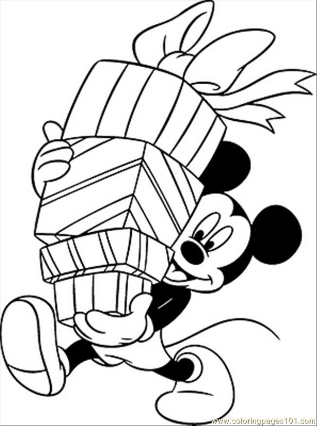 cartoon christmas coloring pages - photo#44