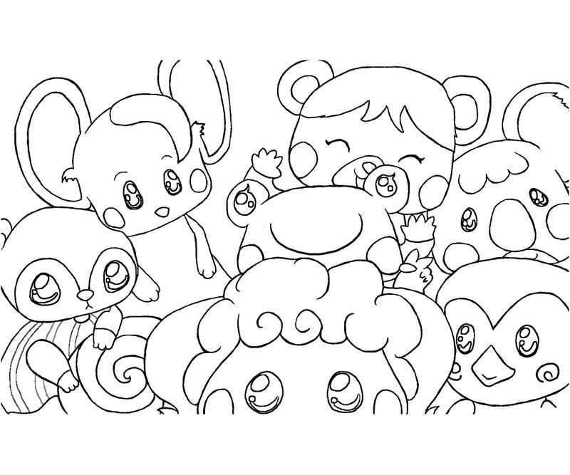 7 animal crossing coloring page